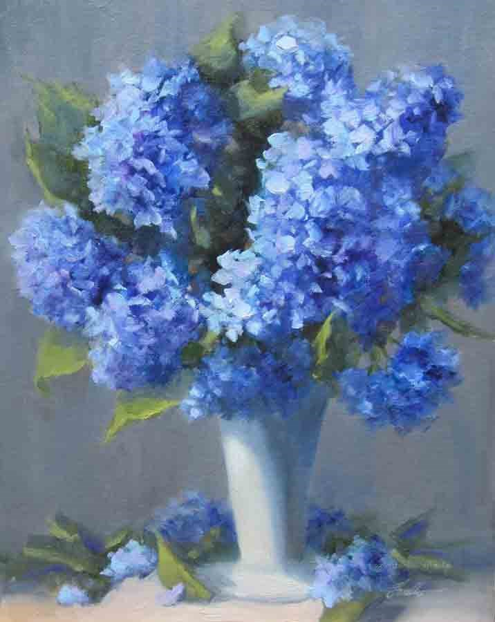 """Hydrangea Joy!"" original fine art by Pat Fiorello"