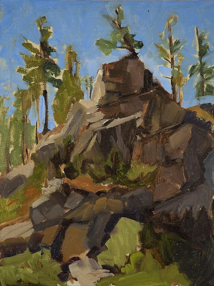 """""""Plein air today in Pecos"""" original fine art by Miriam Hill"""