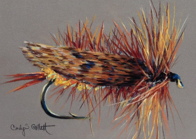 """Fly 15 - Joe's Hopper"" original fine art by Cindy Gillett"