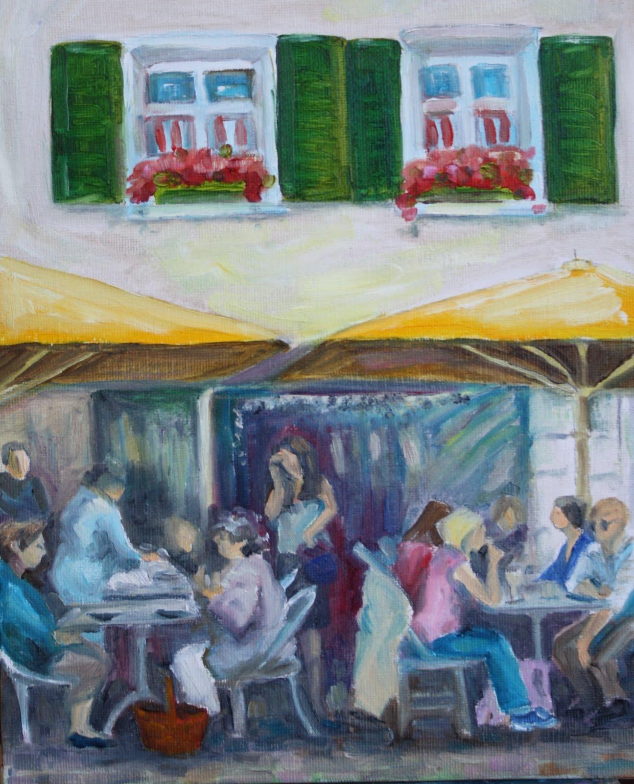 """""""Crowd challenge"""" original fine art by Maggie Flatley"""