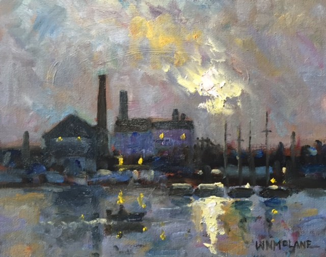 """Along the Coast"" original fine art by William  McLane"