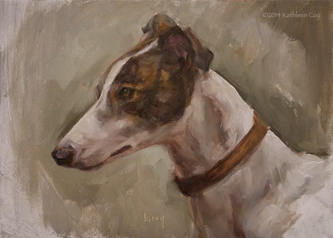 """""""39 - Greyhound"""" original fine art by Kathleen Coy"""