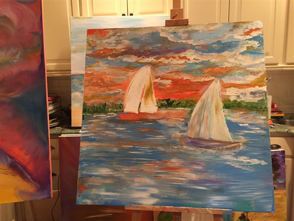 """On the Lake"" original fine art by Yvonne Snead"