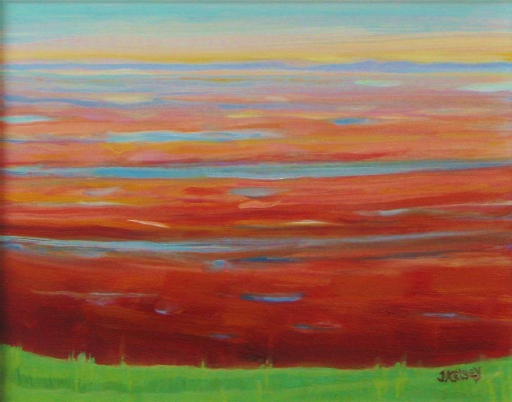 """Red Beach"" original fine art by J Kelsey"
