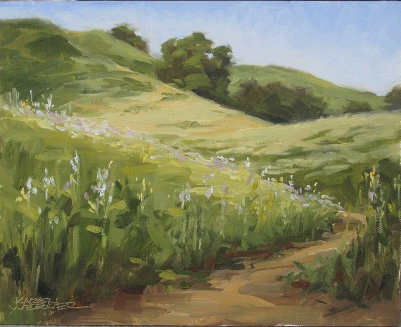"""Spring Hills"" original fine art by Karen Werner"