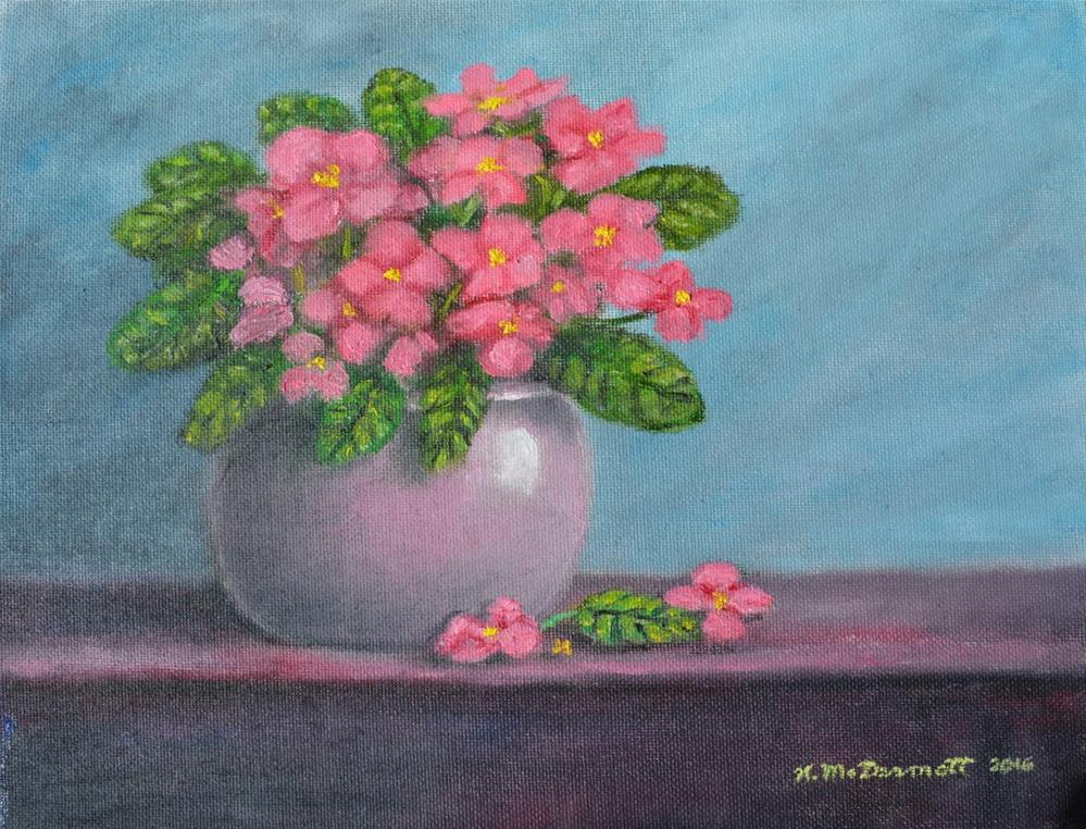 """African Violets"" original fine art by Kathleen McDermott"