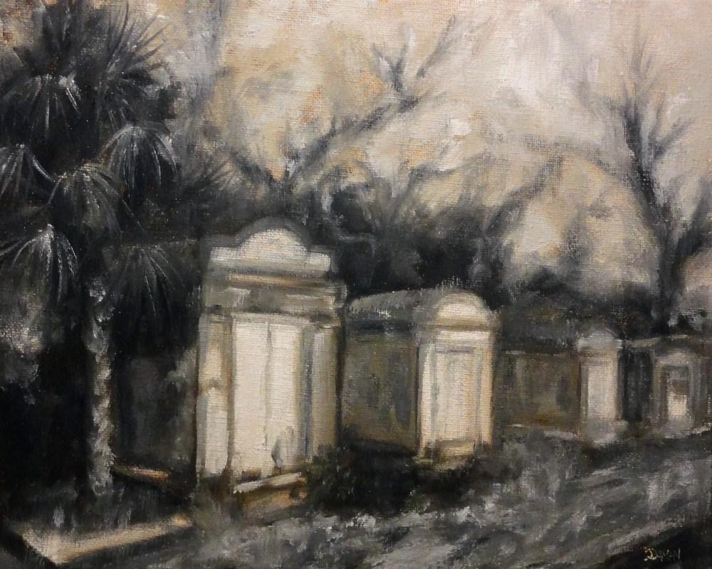 """Old New Orleans Graveyard Monochromatic"" original fine art by Dalan Wells"