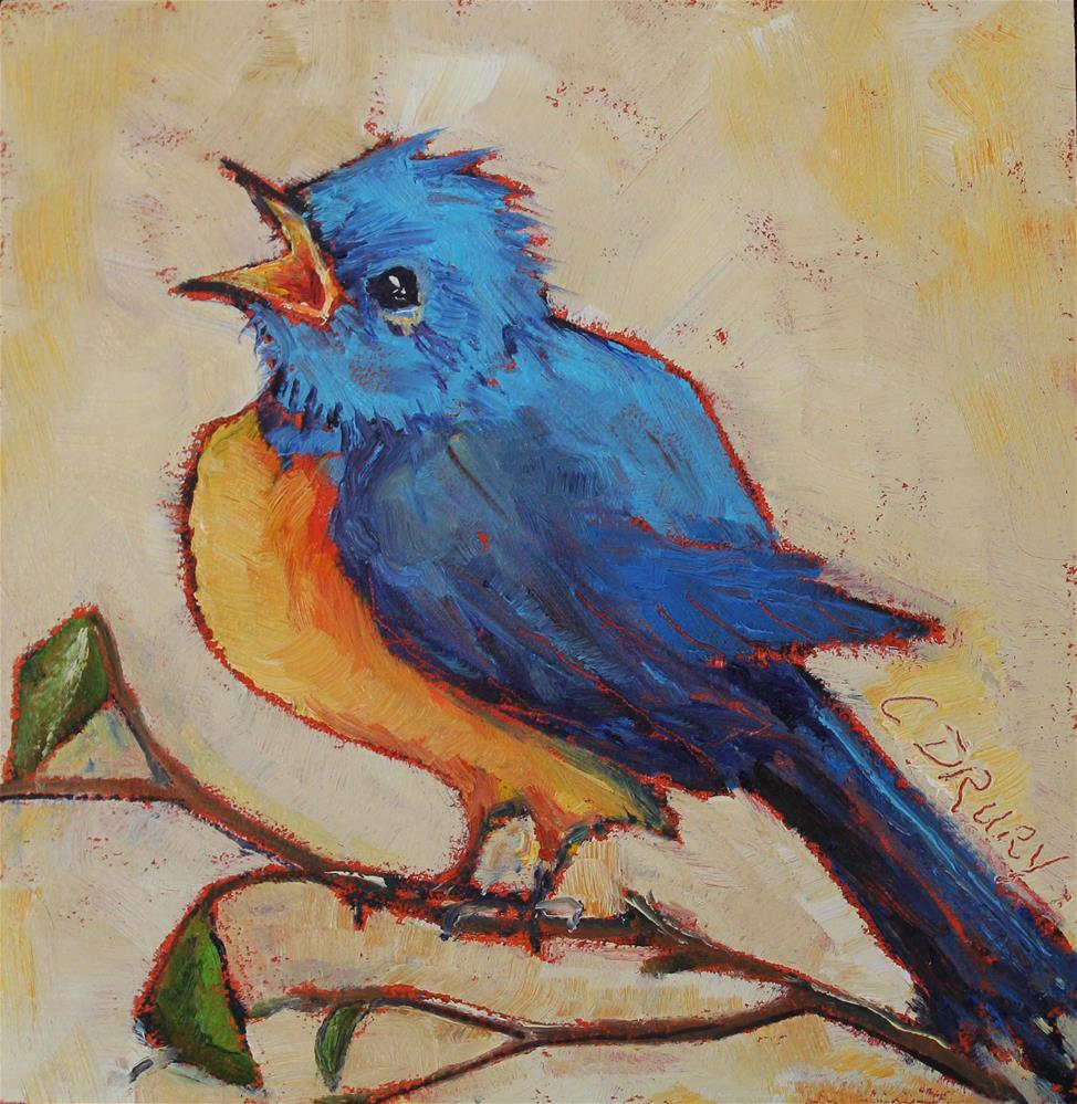 """Bluebird"" original fine art by Colleen Drury"