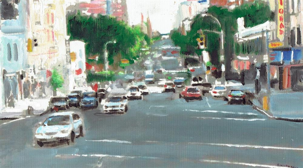 """""""The Area of Harlem (10.5 x 6 oil on canvas sheet - no frame)"""" original fine art by Ramon DelRosario"""