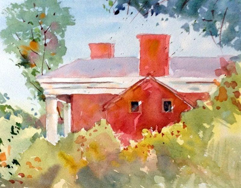 """Lee-Jackson House, Washington & Lee University 2015"" original fine art by David Finnell"