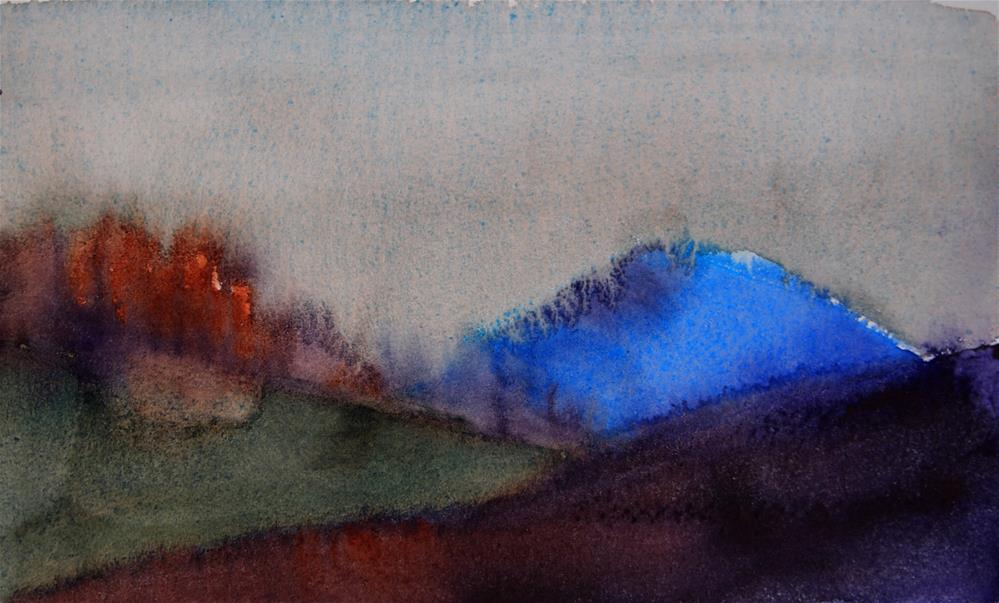 """Blue Mountain"" original fine art by Amy Bryce"