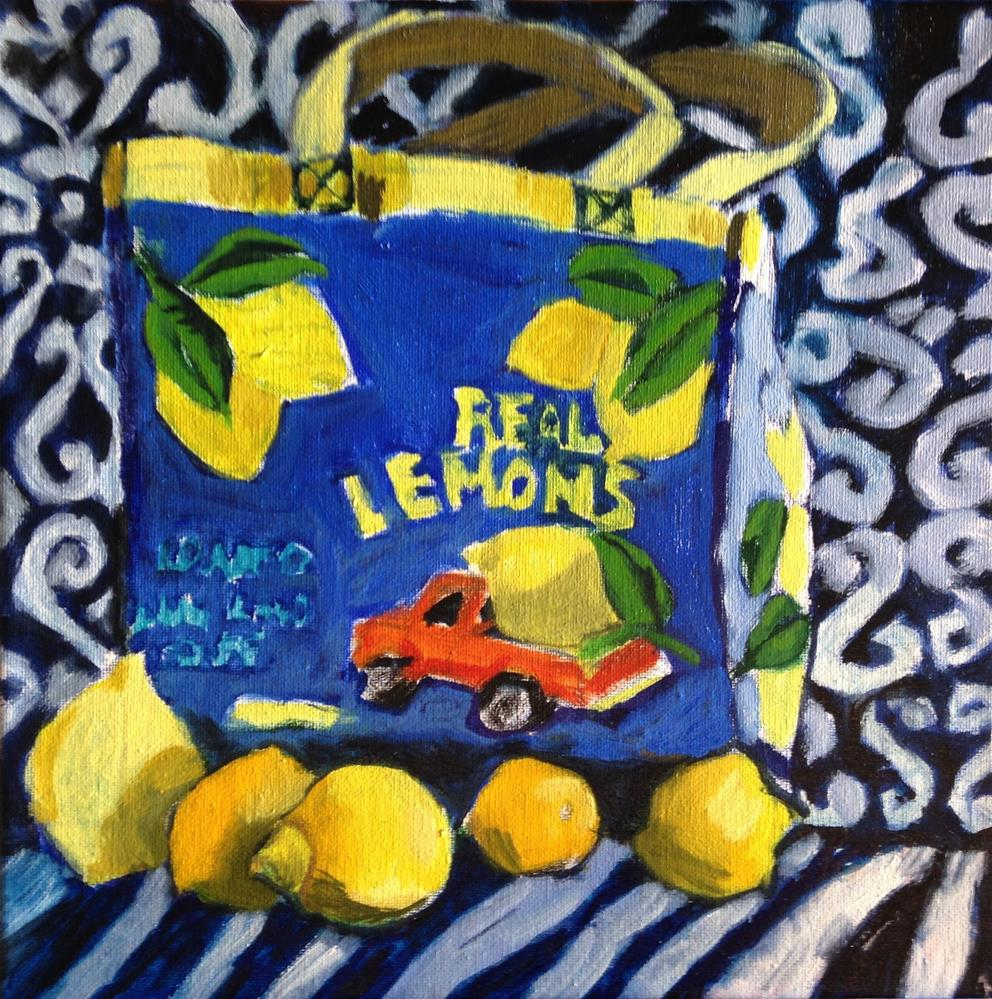 """Fab Bag"" original fine art by Pamela Hoffmeister"