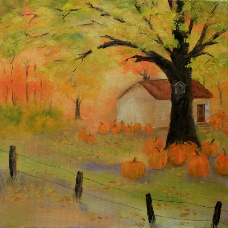 """Autumn Magic"" original fine art by Jean Nelson"