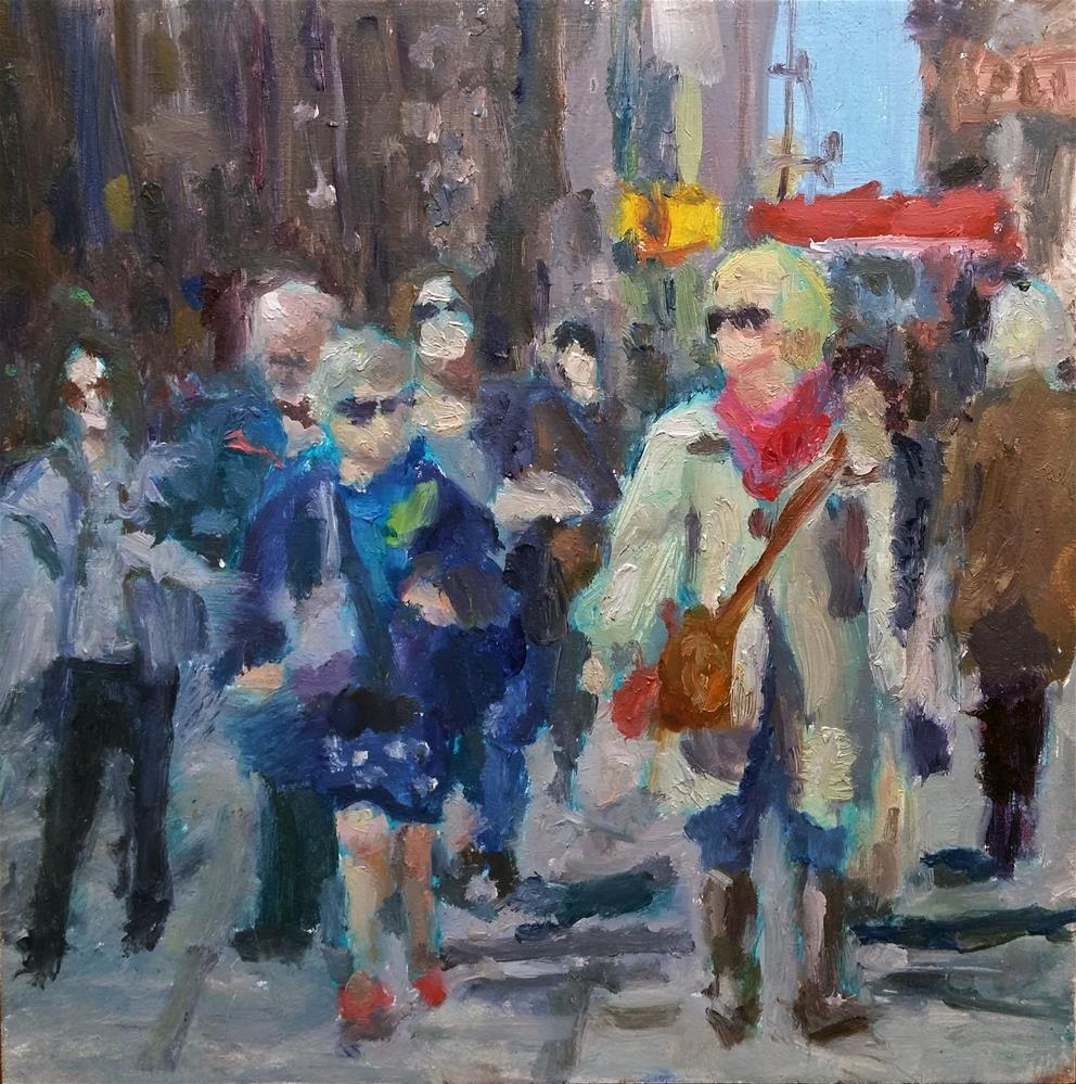 """The Crowd of People"" original fine art by Aleksandra Uzarek"