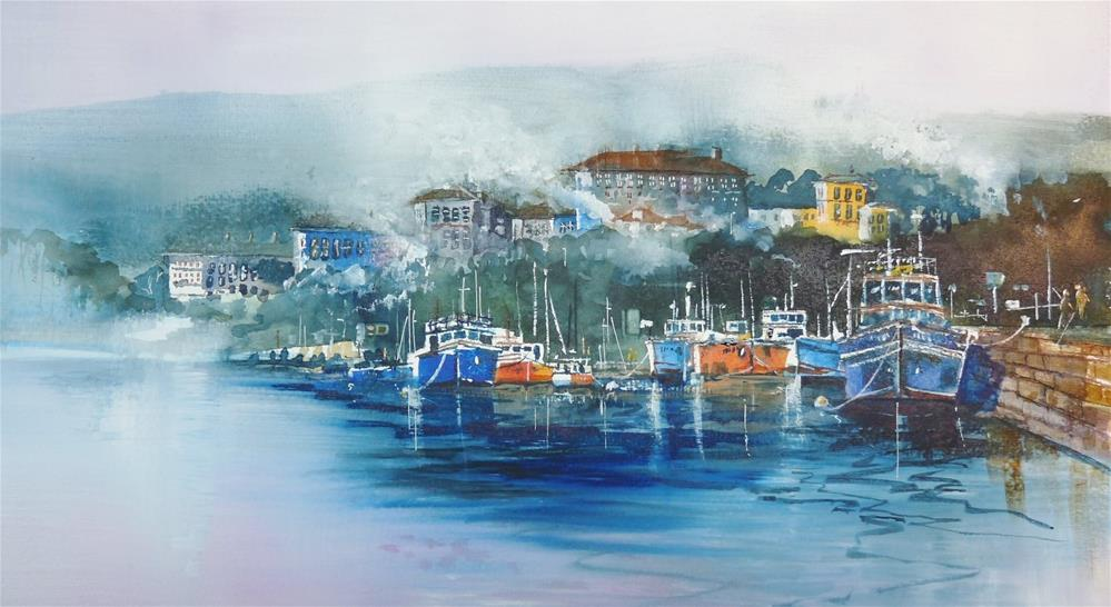 """The Harbour"" original fine art by Martin Stephenson"