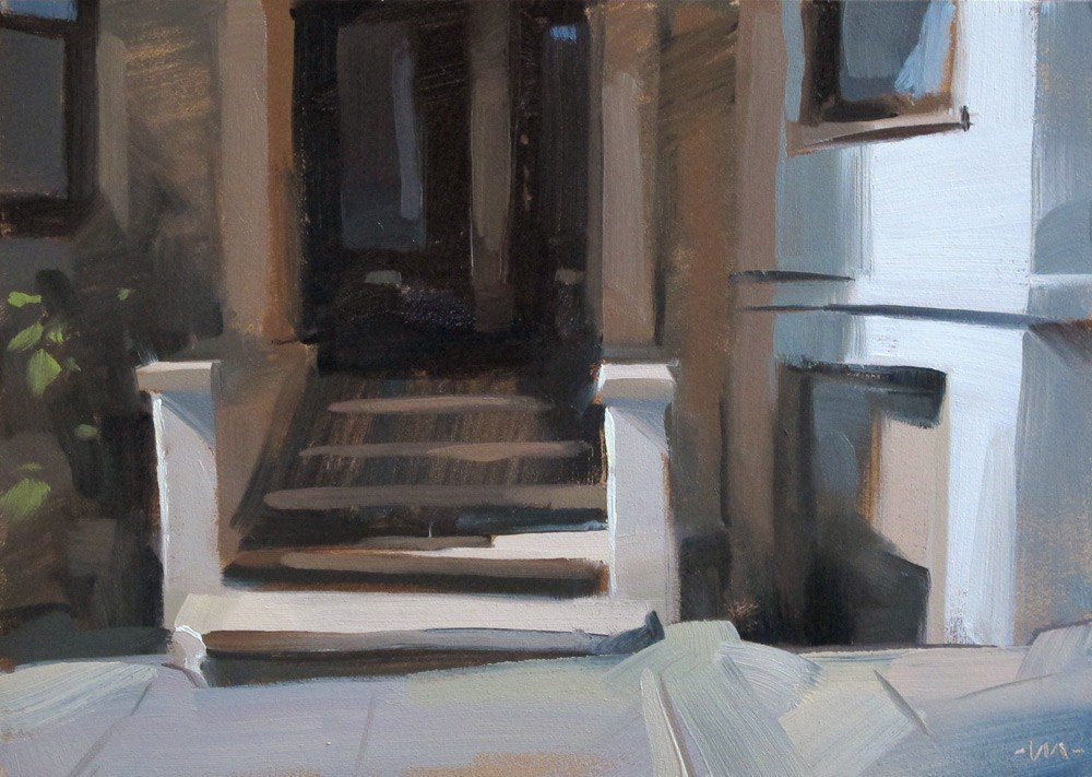 """""""City Porch"""" original fine art by Carol Marine"""