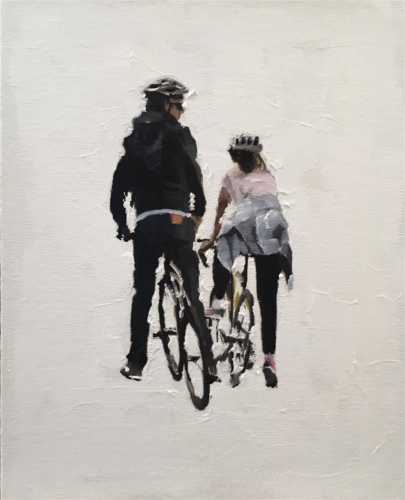 """The Cyclists"" original fine art by James Coates"