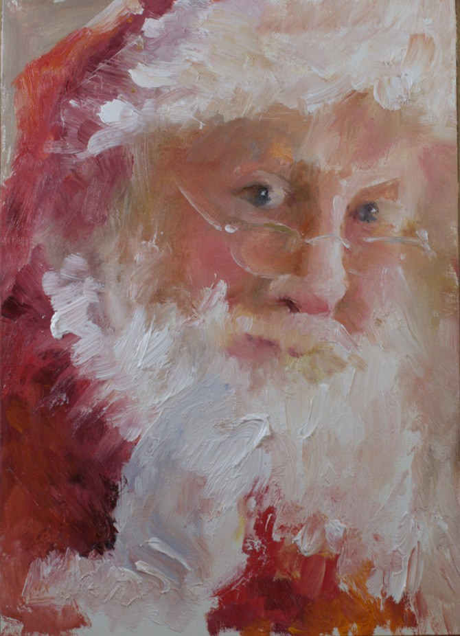 """Santa #2 (2014)"" original fine art by Sue Churchgrant"