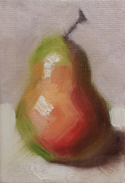 """Mini Pear"" original fine art by Cindy Haase"