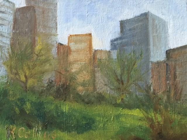 """""""Union Square Park"""" original fine art by Kathy Collins"""