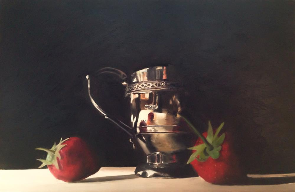"""Silver and Strawberries"" original fine art by James Coates"