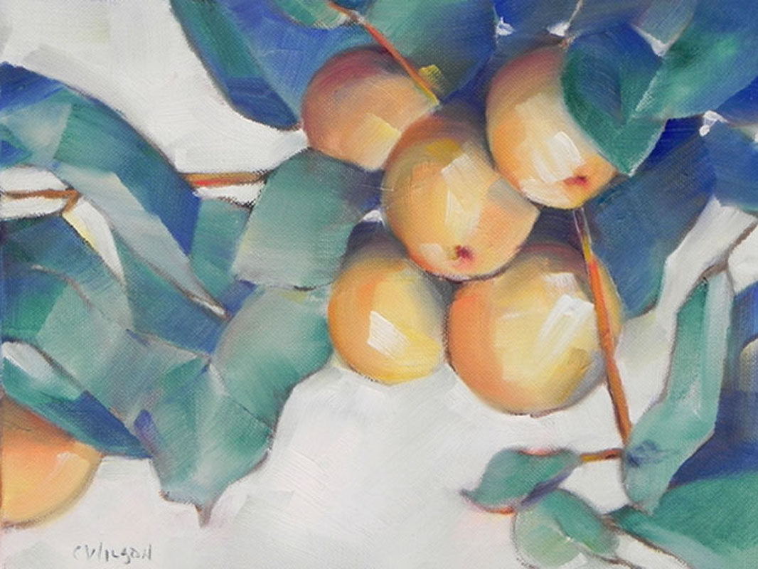 """Yellow Apples"" original fine art by Cheryl Wilson"