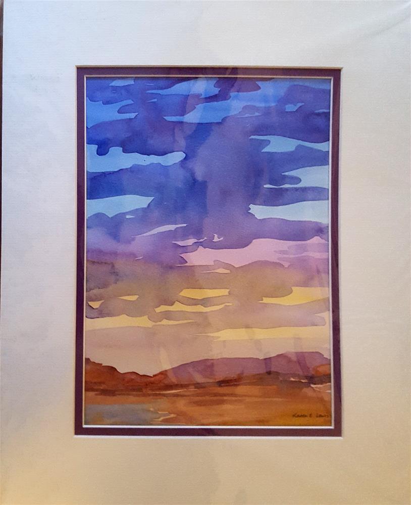 """""""SKY SKETCH"""" original fine art by Karen E Lewis"""