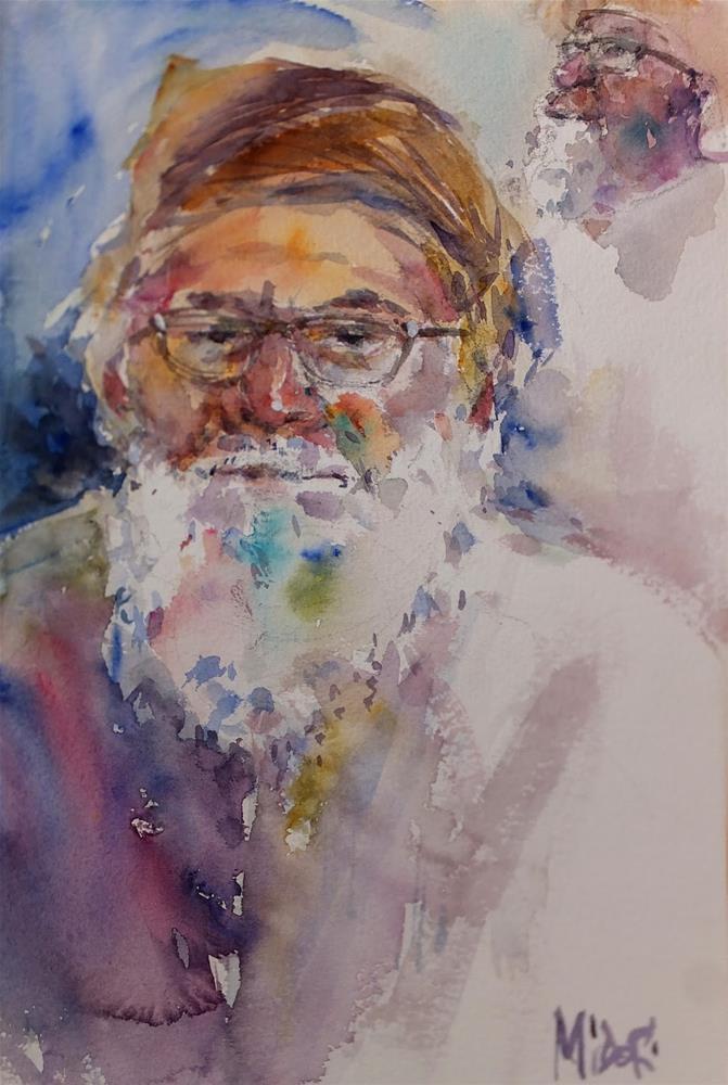 """Al Qattara souq"" original fine art by Midori Yoshino"