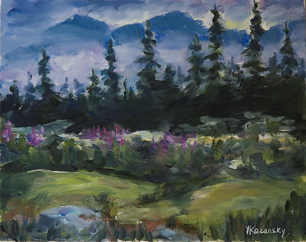 """Alaskan Woods"" original fine art by Yulia Kazansky"