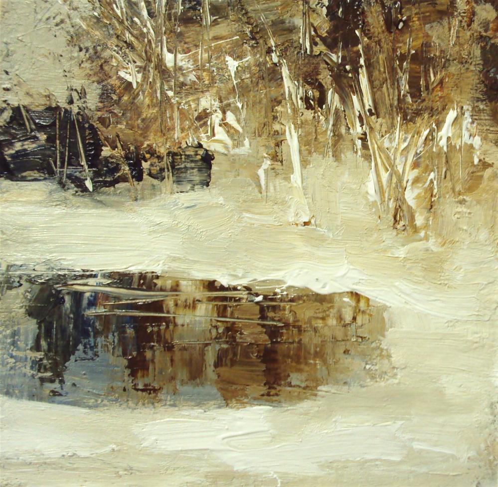 """""""winter in a pond"""" original fine art by Parastoo Ganjei"""