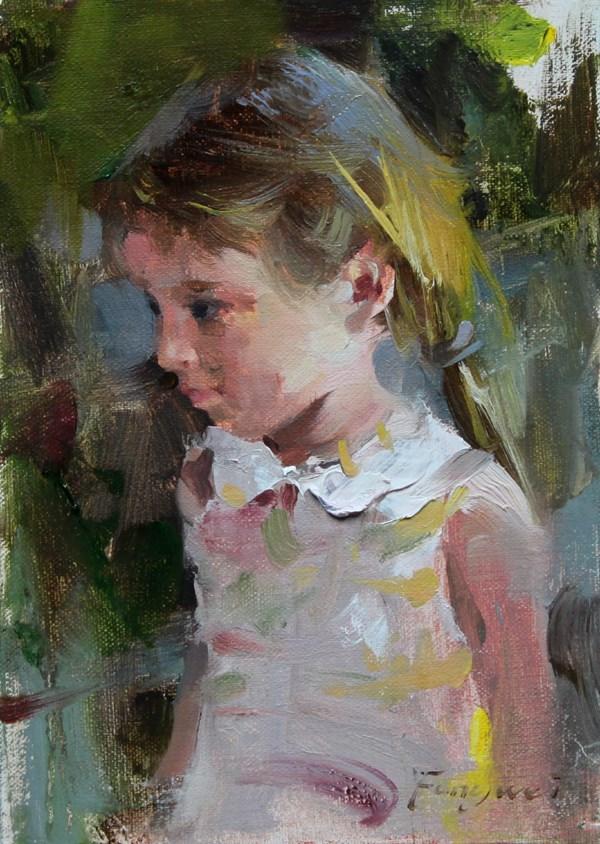 """I wonder"" original fine art by Fongwei Liu"