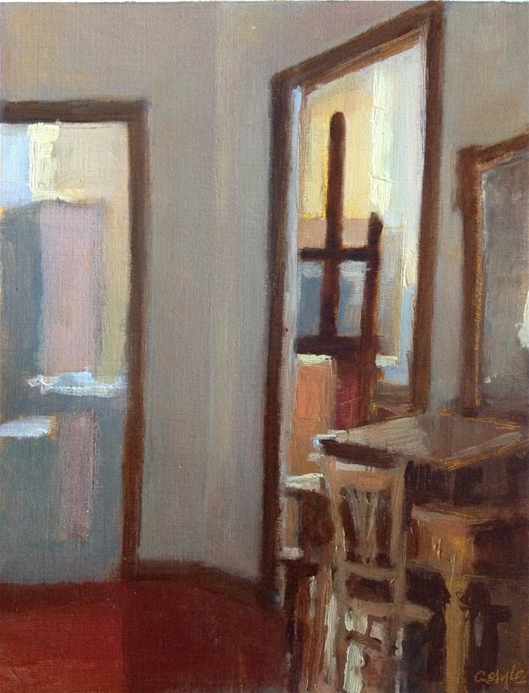 """Interior"" original fine art by Christine Bayle"