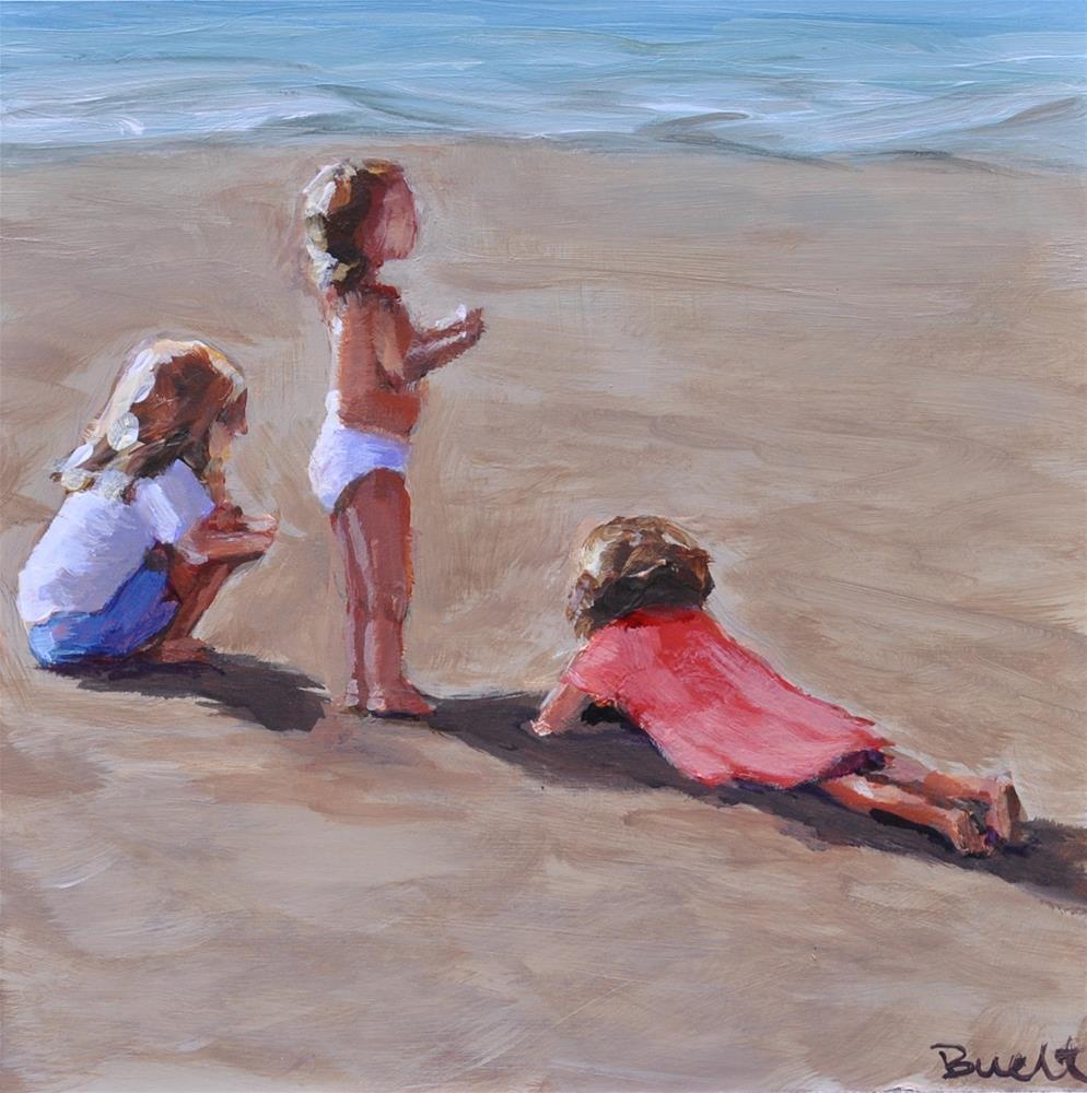 """Pacific City Beach Girls"" original fine art by Shari Buelt"