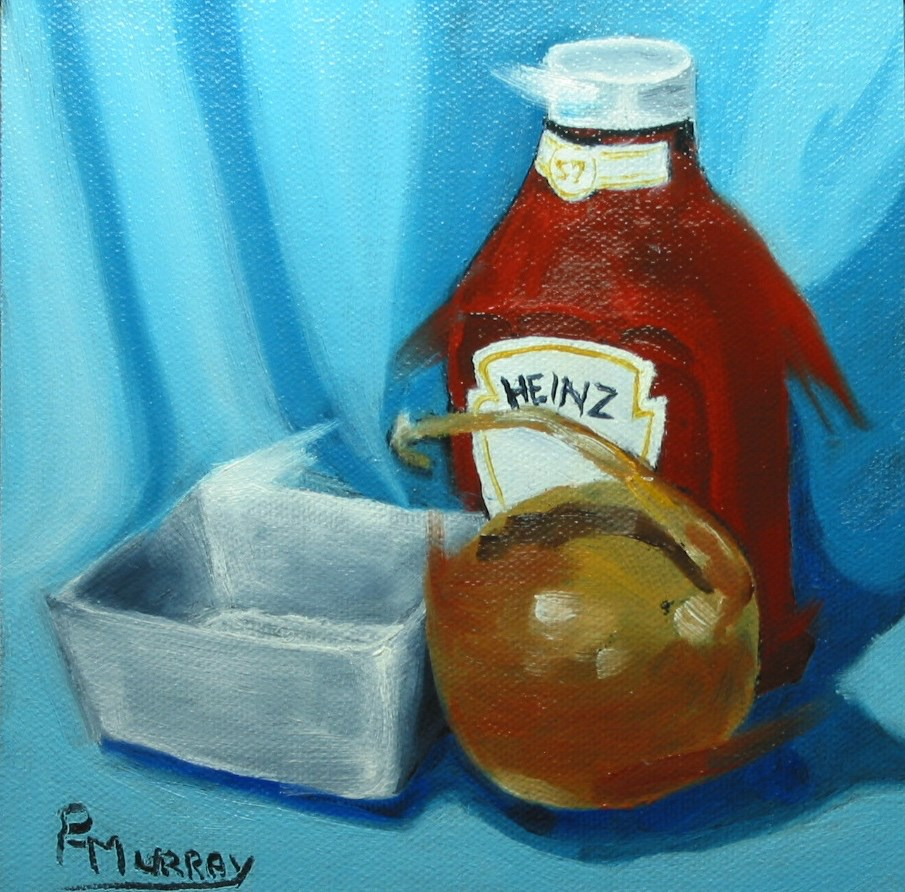 """Heinz"" original fine art by Patricia Murray"