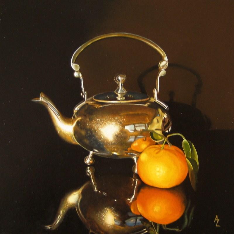 """""""Make Tea not War"""" original fine art by Alex Zonis"""