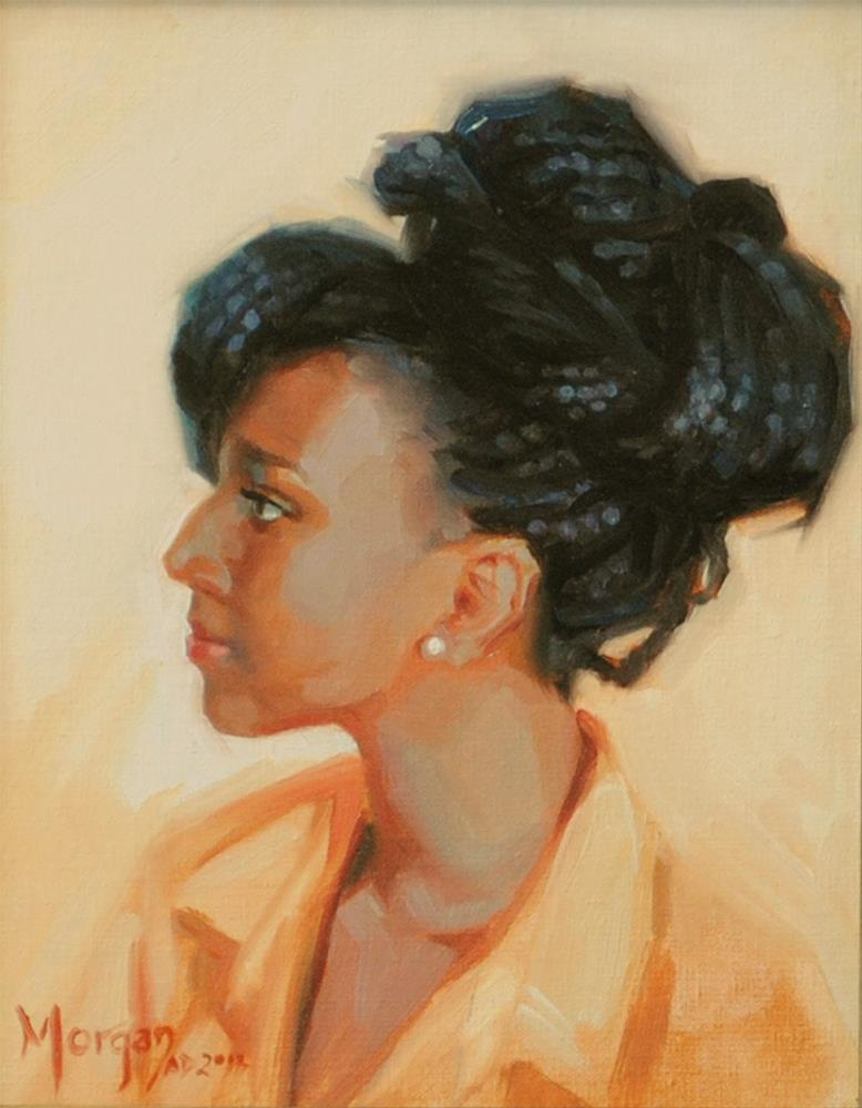 """Princess"" original fine art by Cecile W. Morgan"