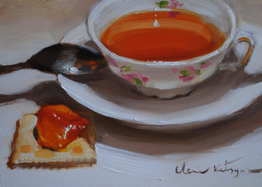 """Tea & Jam"" original fine art by Elena Katsyura"