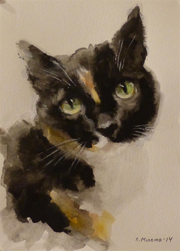 """""""Molly"""" original fine art by Katya Minkina"""