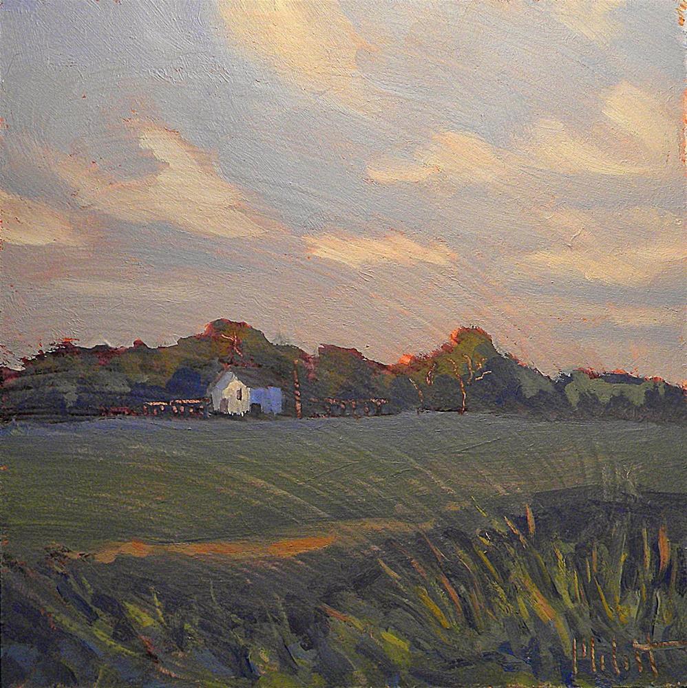 """White Barn Rural Landscape Heidi Malott"" original fine art by Heidi Malott"