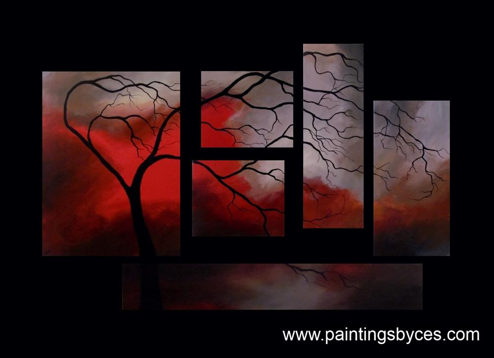 """Commissioned Painting - 6 Canvas Set"" original fine art by ~ces~ Christine E. S. Code"