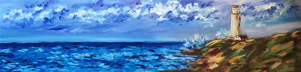"""Lighthouse"" original fine art by Hoda Nicholas"