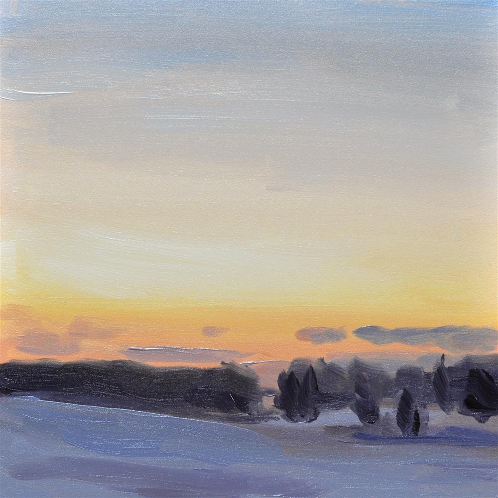 """Winter Sunset"" original fine art by Heather Bullach"