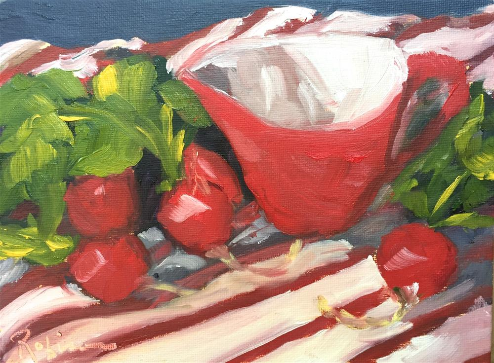 """Radish Still Life"" original fine art by Renee Robison"