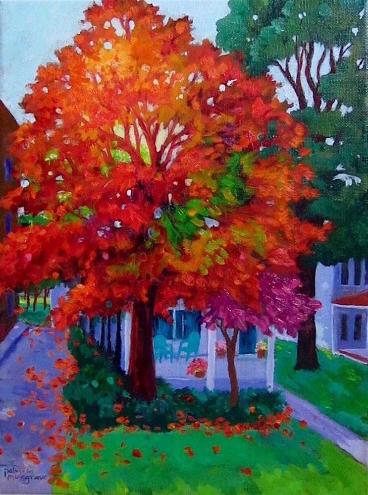 """Autumn Comes to High Street"" original fine art by Patricia Musgrave"