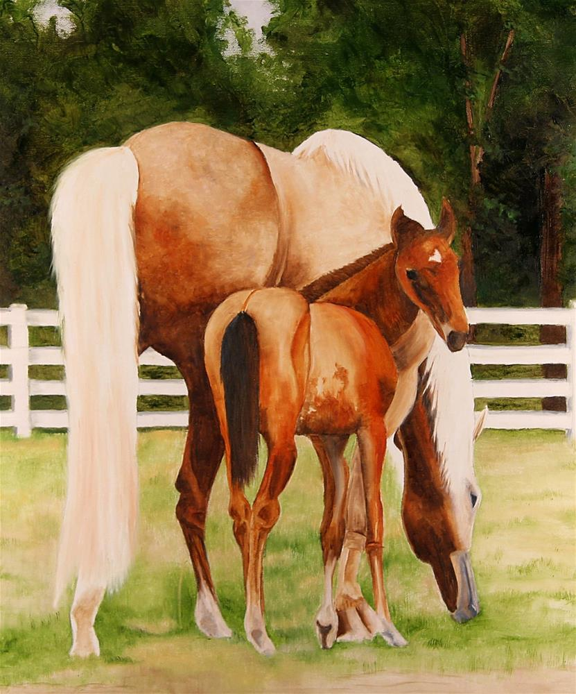 """Hallie and Missy"" original fine art by Marti Idlet"