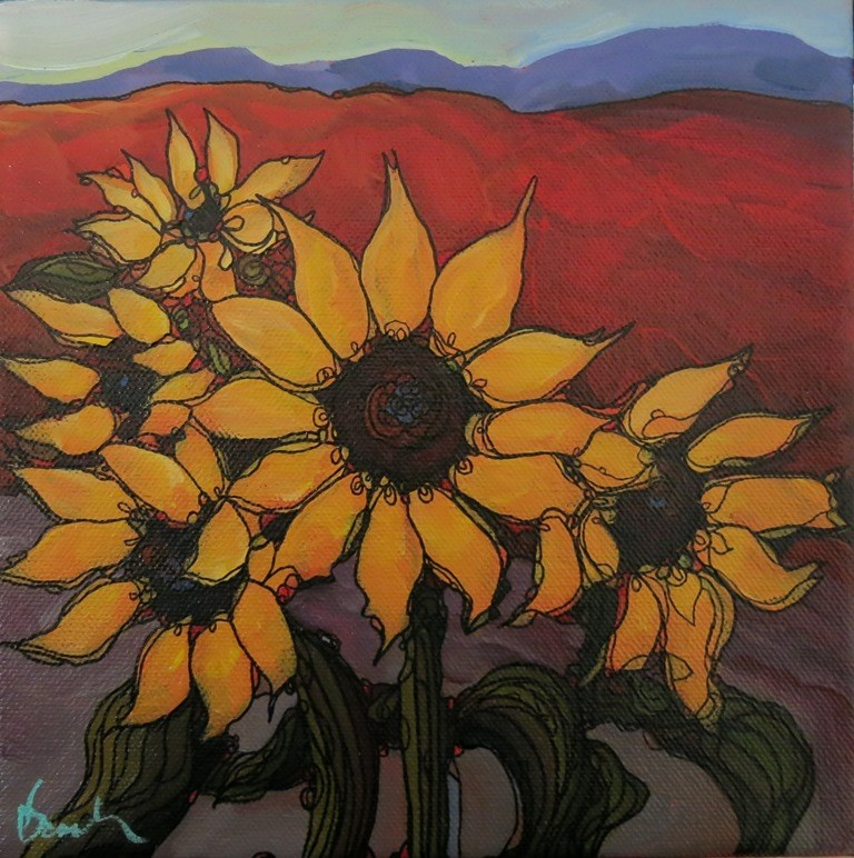 """WARM SUNS"" original fine art by Dee Sanchez"