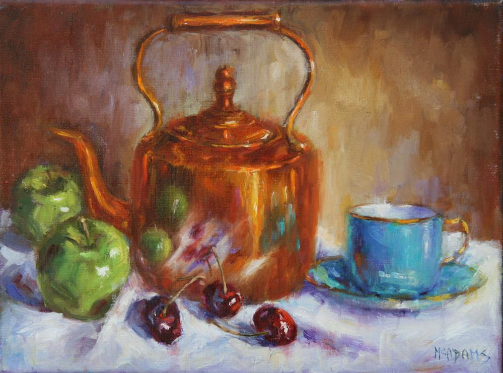 """Old copper Kettle"" original fine art by Phyllis McAdams"