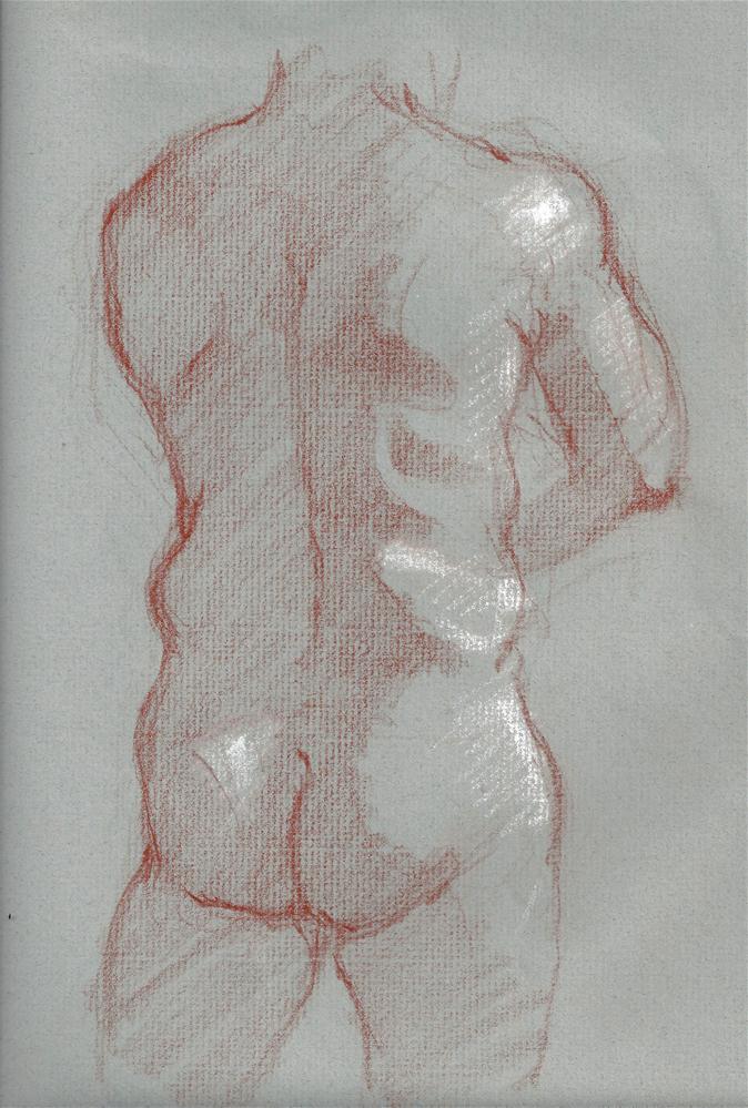 """""""Male Nude"""" original fine art by Marlene Lee"""