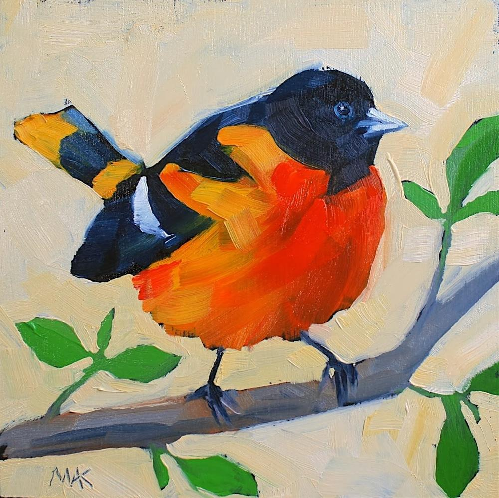 """Baltimore Oriole"" original fine art by Mary Anne Cary"