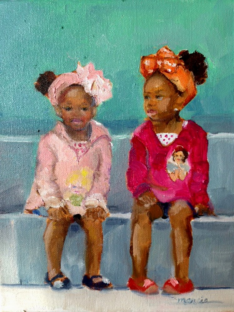 """Sisters"" original fine art by Marcia Hodges"